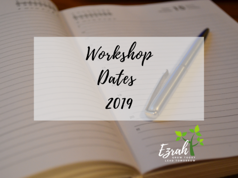 Workshop Dates 2019