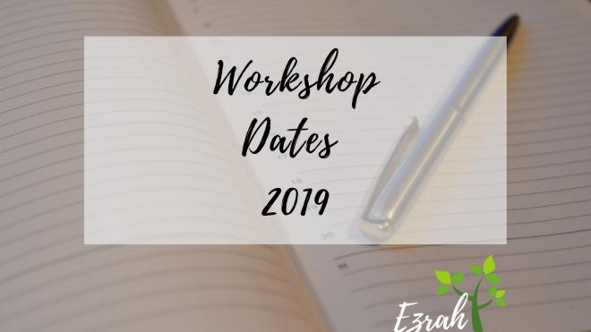 Workshop Dates 2019