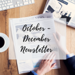 Quarter 4 Newsletter - October-December